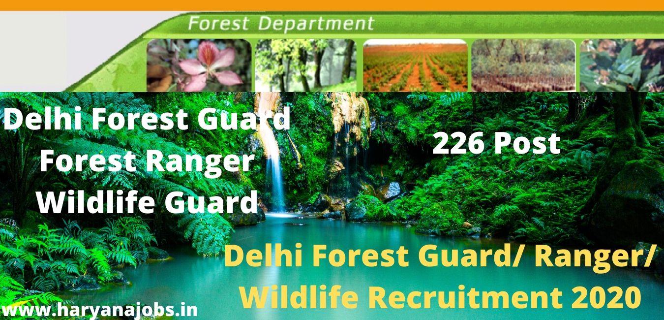 Delhi Forest Guard_ Ranger_ Wildlife Recruitment 2020