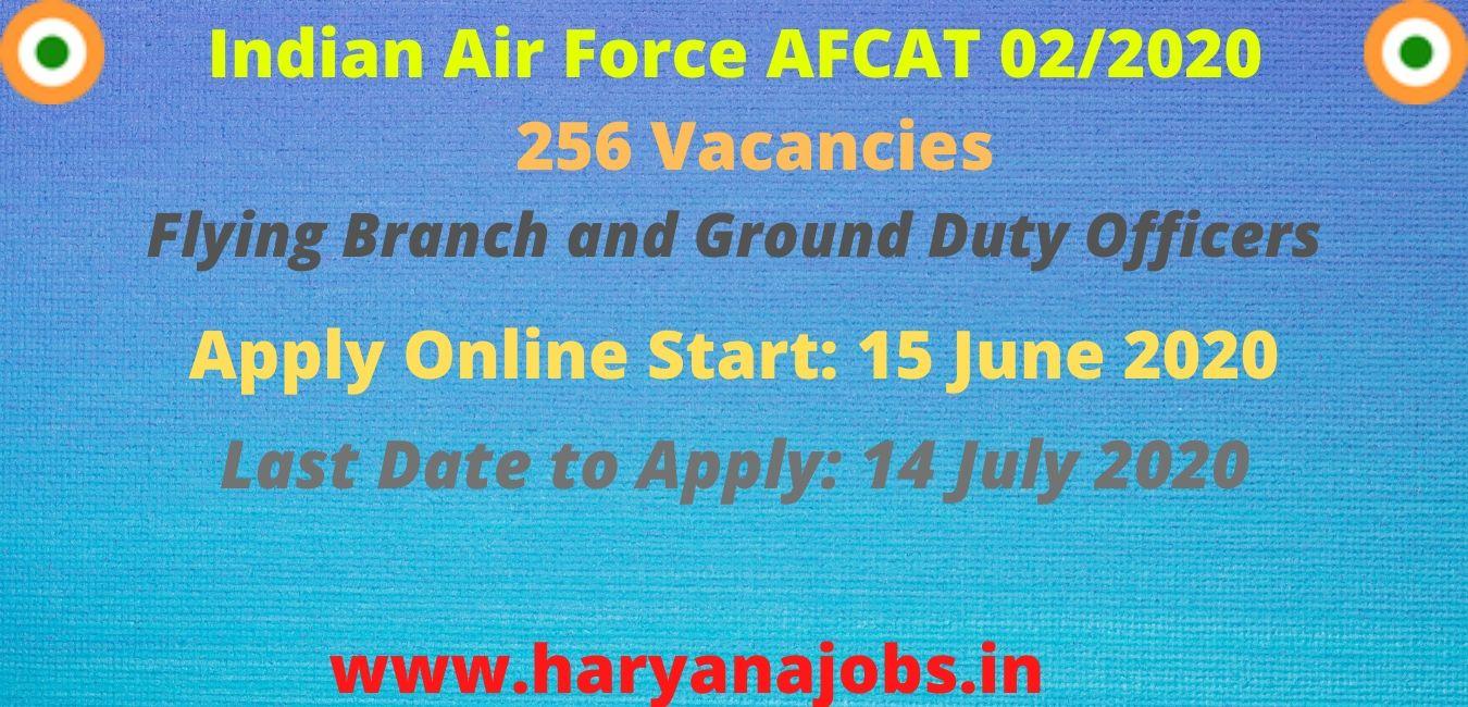 Indian Air Force AFCAT 02/2020