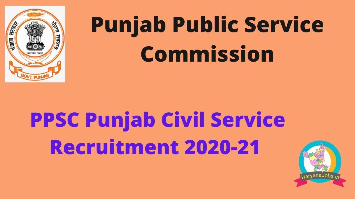 Punjab Civil Service Recruitment 2020_2021