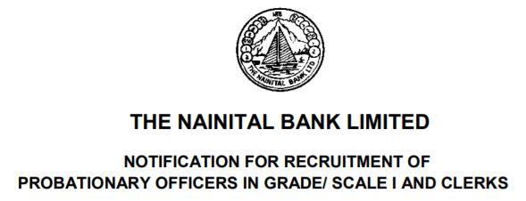 Nainital Bank PO Recruitment 2020 Notification PO and Clerk