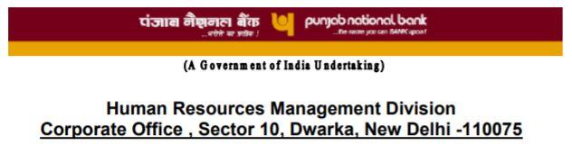 PNB Manager Recruitment 2020 Notification