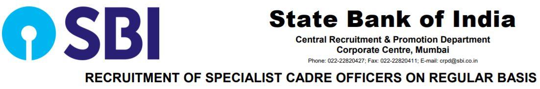 SBI SO Recruitment 2020_2021 SCO Notification