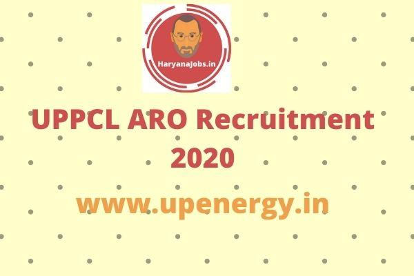 UPPCL ARO Recruitment 2020 Notification apply online