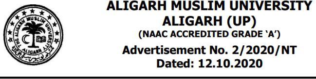 AMU Aligarh Muslim University Recruitment 2020