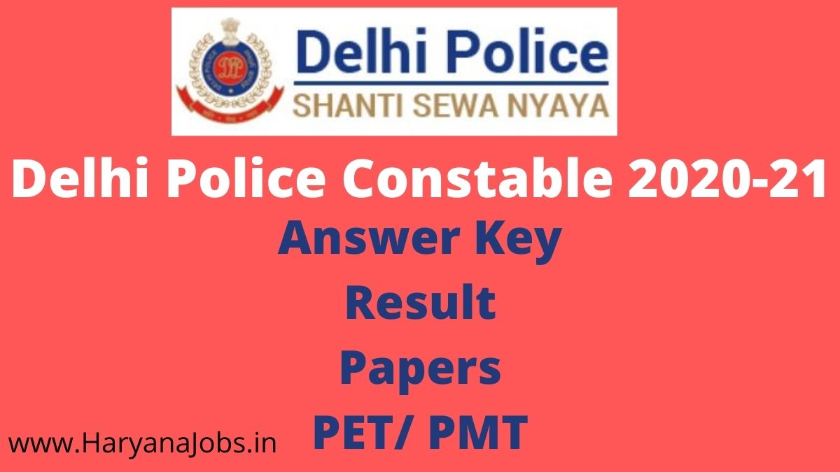 Delhi Police Constable Result Date 15 March 2021