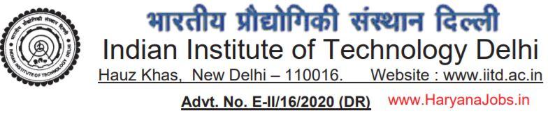 IIT Delhi Junior Assistant Vacancy 2020