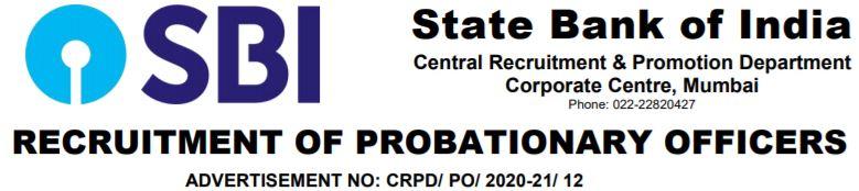 SBI PO Recruitment 2020_21