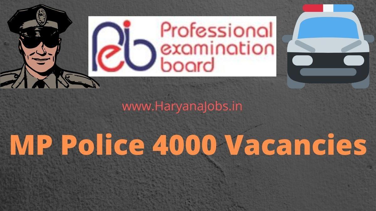 MP Police Constable Recruitment 2021