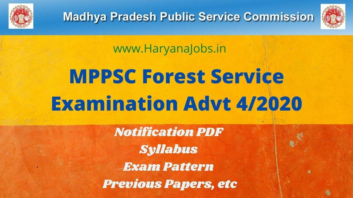 MPPSC Forest Service 2020_2021 Advt 4_2020