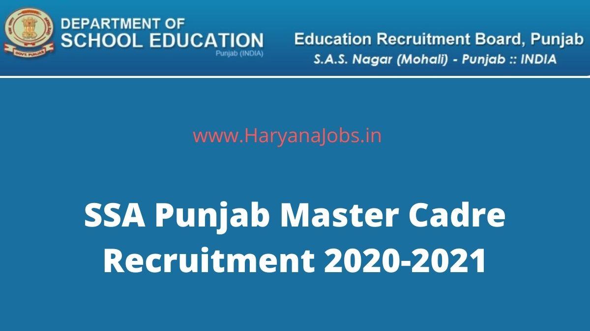 Punjab Master Cadre Teachers Recruitment 2020_2021