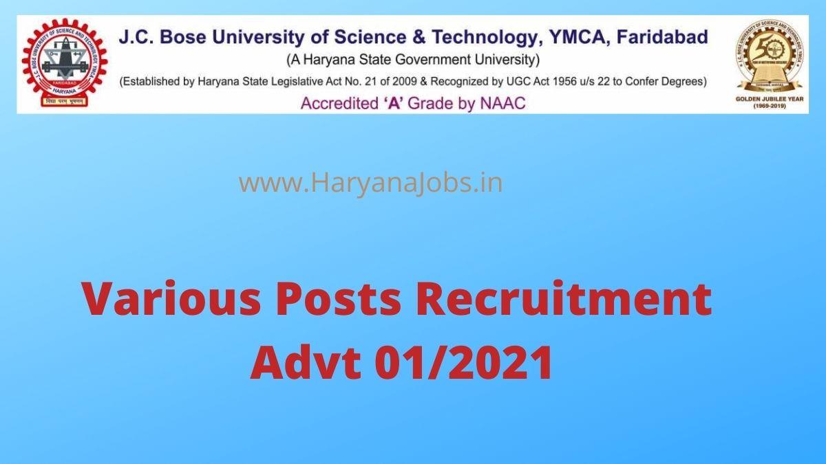 JC Bose University Recruitment 2021 Advt 01_2021