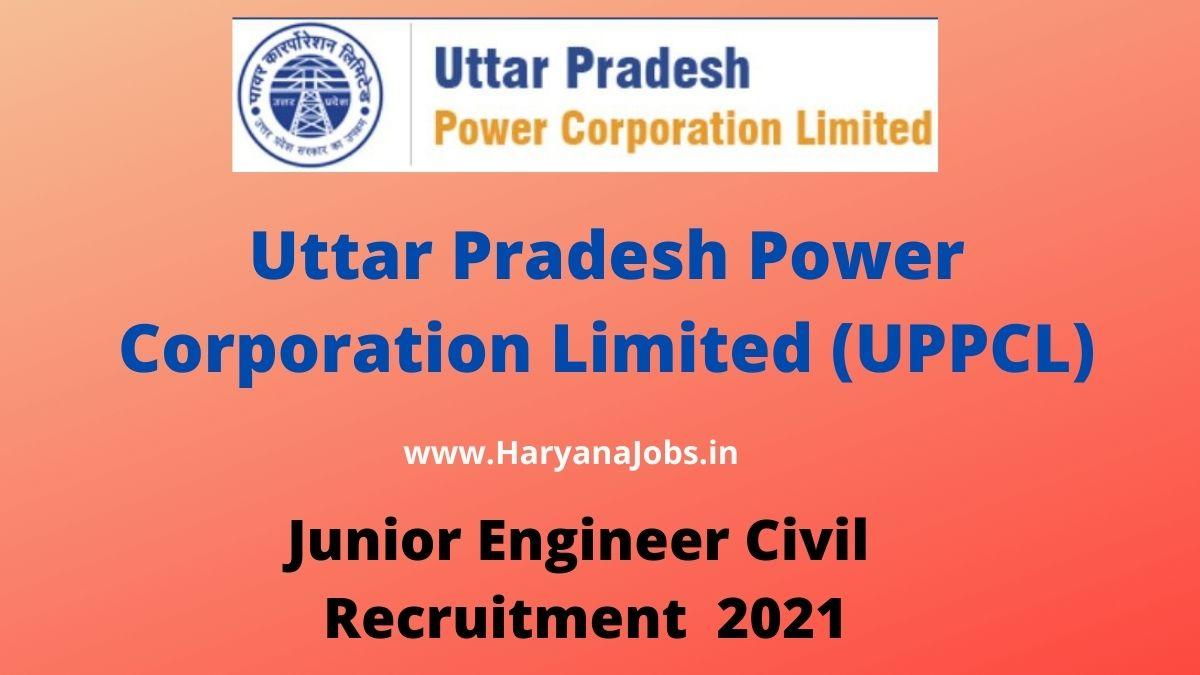UPPCL JE Civil Recruitment 2021