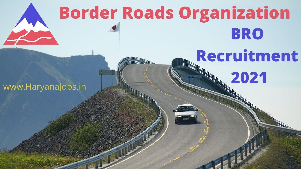 BRO Recruitment 2021 Various Posts Notification