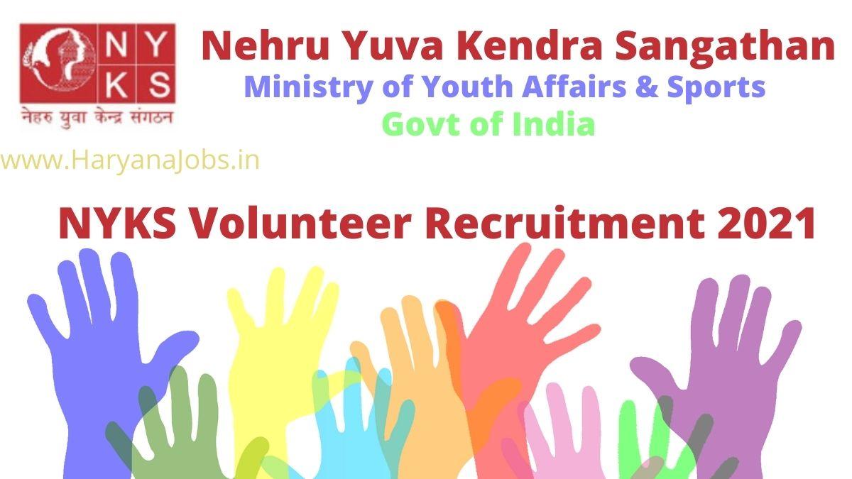 NYKS Volunteer Recruitment 2021