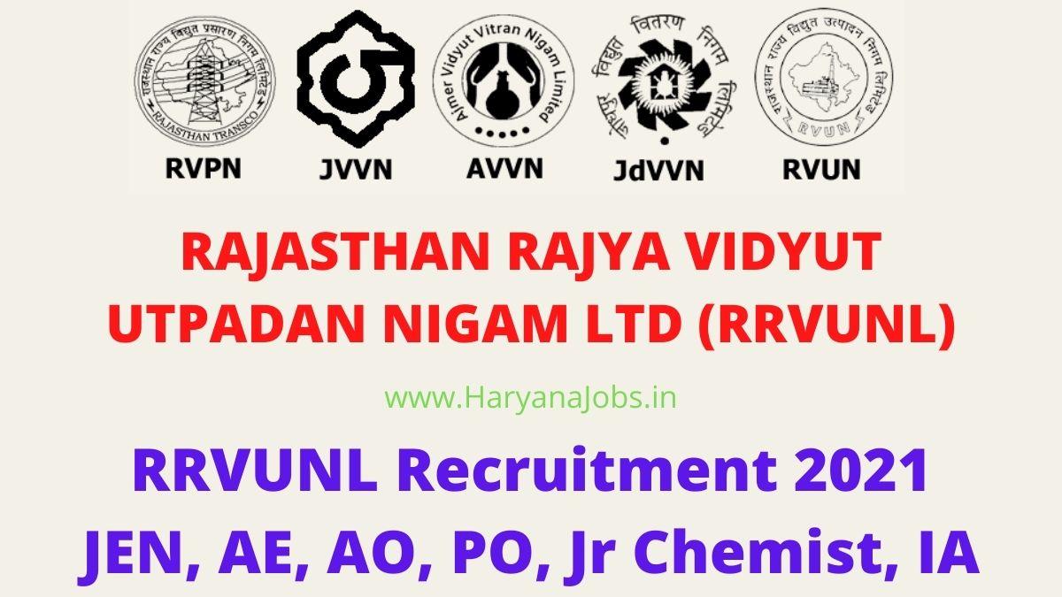RRVUNL JEN Recruitment 2021