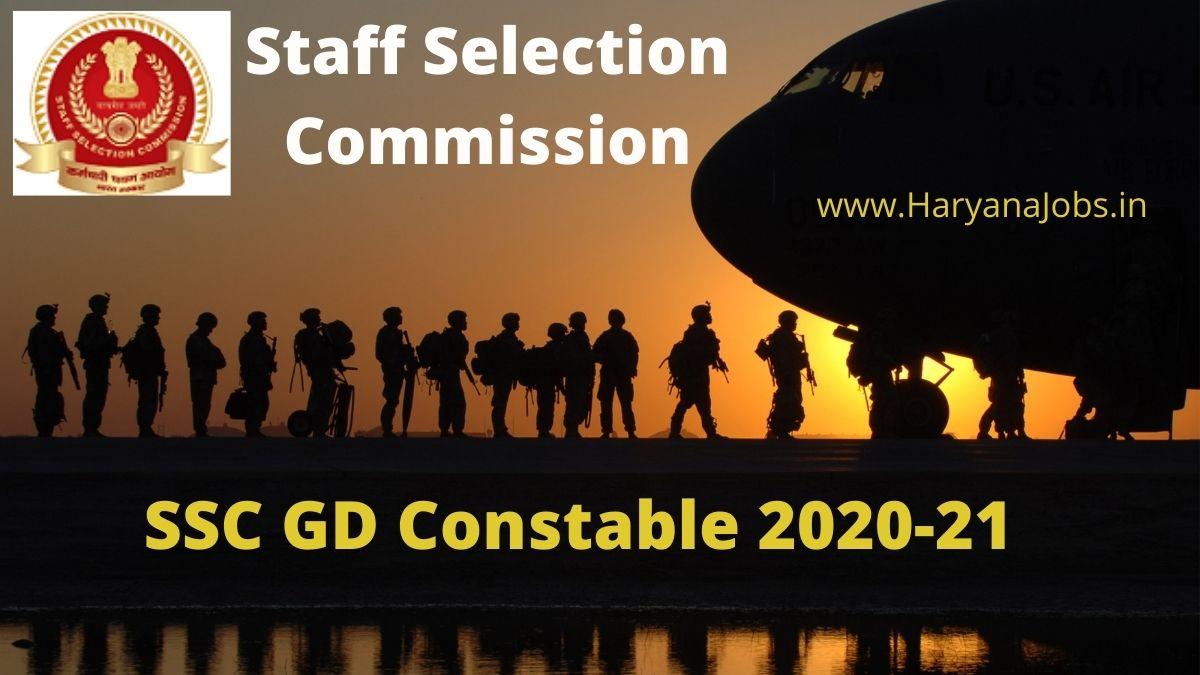 SSC GD Constable 2020_2021 Recruitment Notification