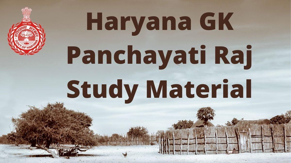 Haryana GK Panchayati Raj Notes in Hindi for Gram Sachiv