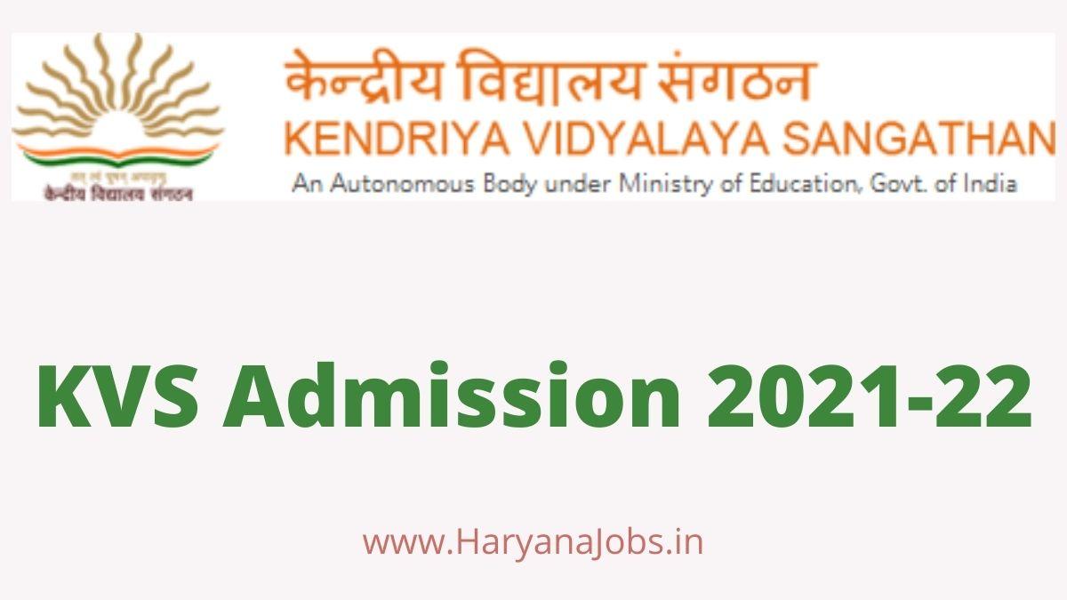 KVS Admission 2021_22 Session Apply Online