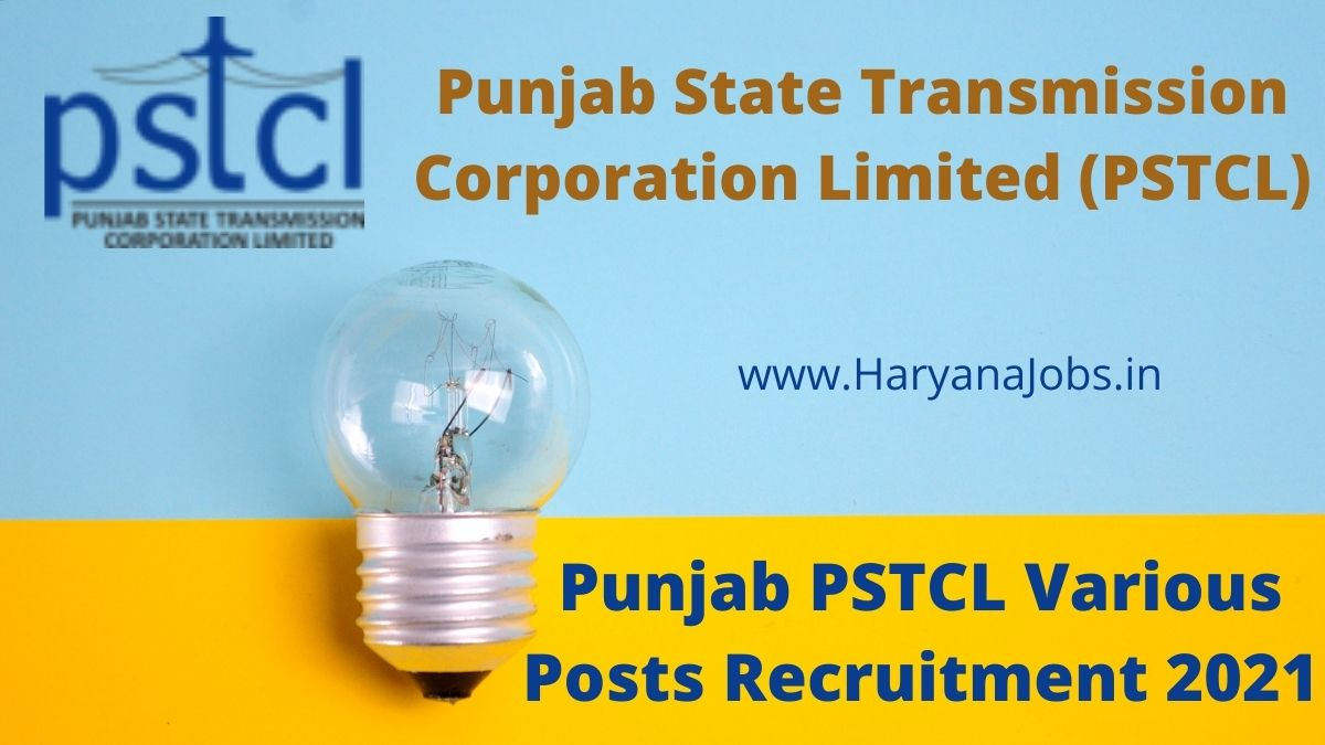 PSTCL Recruitment 2021 Various Posts haryanajobs.in