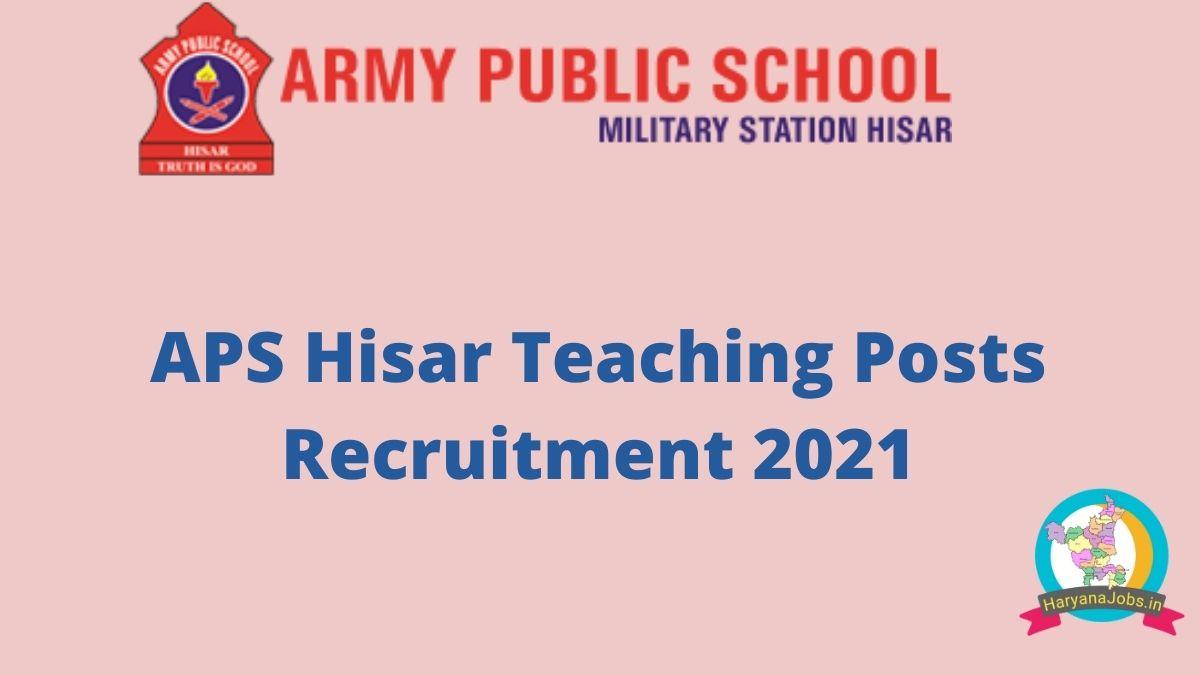 Army Public School Recruitment 2021 Teaching Posts