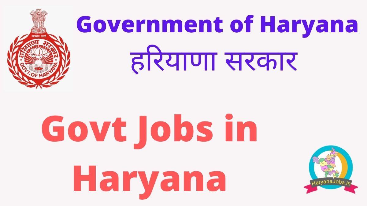 Govt Jobs in Haryana