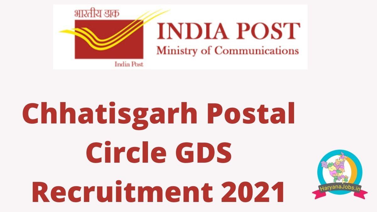 Chhatisgarh Postal Circle GDS Result 2021