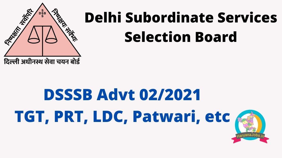 DSSSB advt 02_21