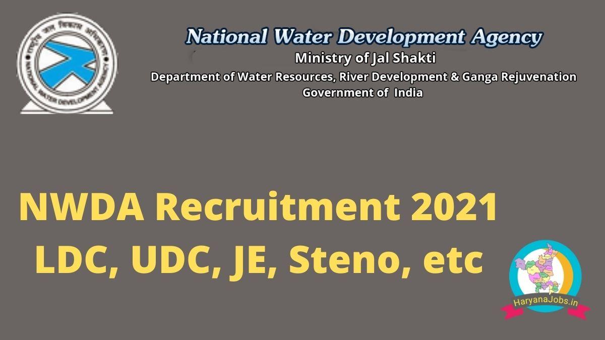 NWDA Recruitment 2021