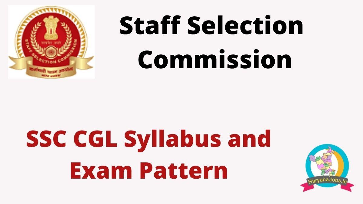 SSC CGL Syllabus and Exam Pattern