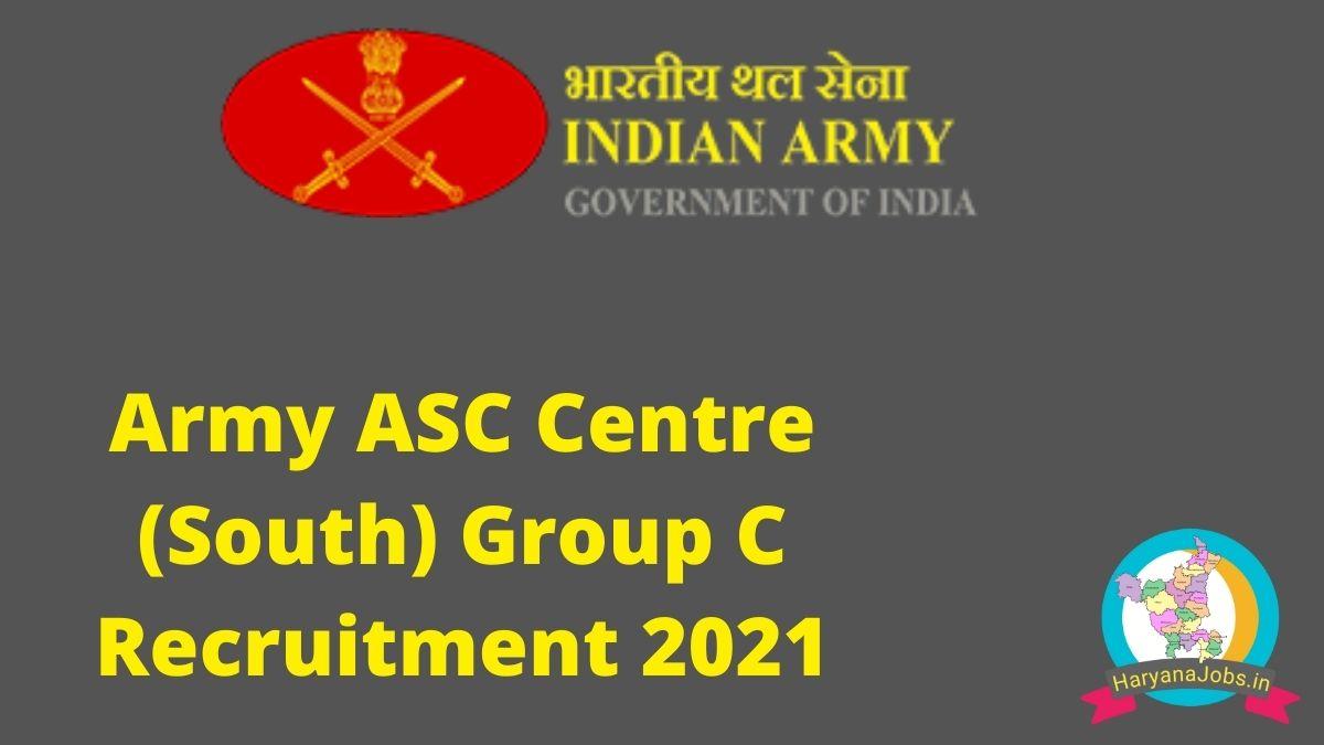 Army ASC Centre South Group C Recruitment 2021