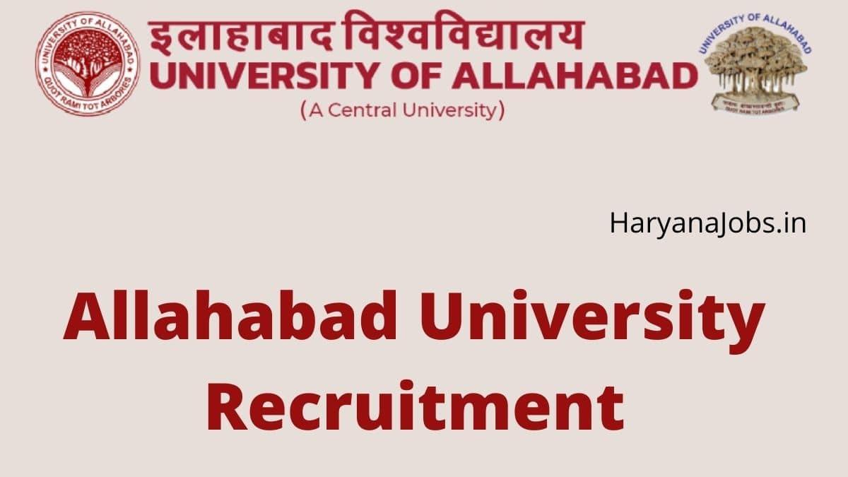 Allahabad University Recruitment 2021 Non Teaching Posts
