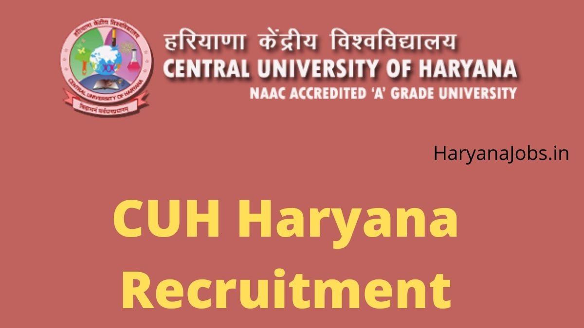 CUH Haryana Recruitment