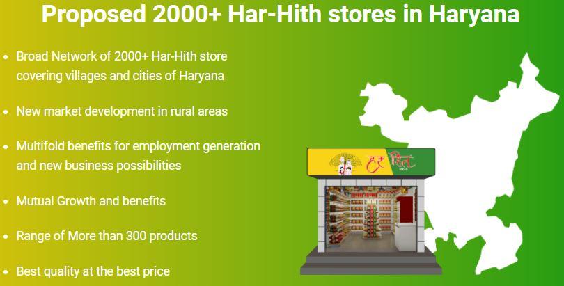 Haryana Har Hith Store Scheme Important Points
