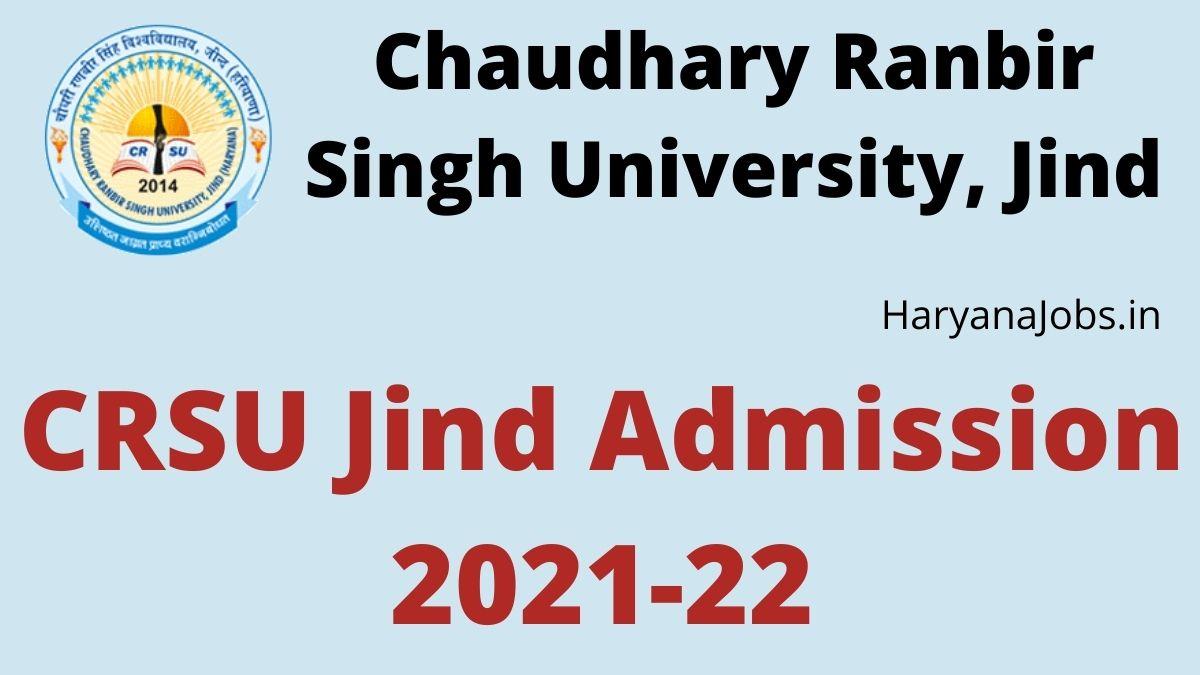 CRSU Jind Admission