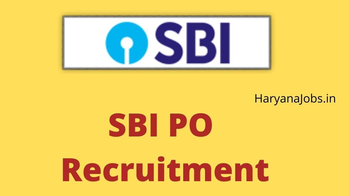 SBI PO Recruitment 2021